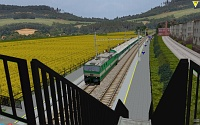 openBVE v1.2.5, First Brno Track and CD163 plus coaches--click to enlarge