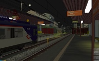 openBVE v1.2.5, Guaianazes-Estudantes route and CAF 440 train--click to enlarge