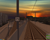 openBVE v1.0.6, Chashinai Railway (Ashikari, Ishinden Line), Smooth Transparency option enabled--click to enlarge