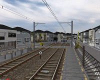 openBVE v1.0.6, Chashinai Railway (Minaminaka Sidings, Minaminaka Line), Smooth Transparency option enabled--click to enlarge