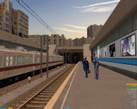 openBVE v1.0.6, Chashinai Railway (Izumozaki North, Misaki Line), Smooth Transparency option enabled--click to enlarge