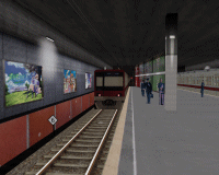 openBVE v1.0.6, Chashinai Railway (Izumozaki South, Misaki Line), Smooth Transparency option enabled--click to enlarge