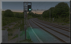 openBVE / Watford Jn to Rugby screenshot - please see video above