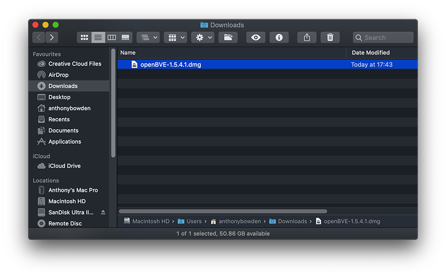 Railsimroutes net :: Help   openBVE Help and Information   macOS